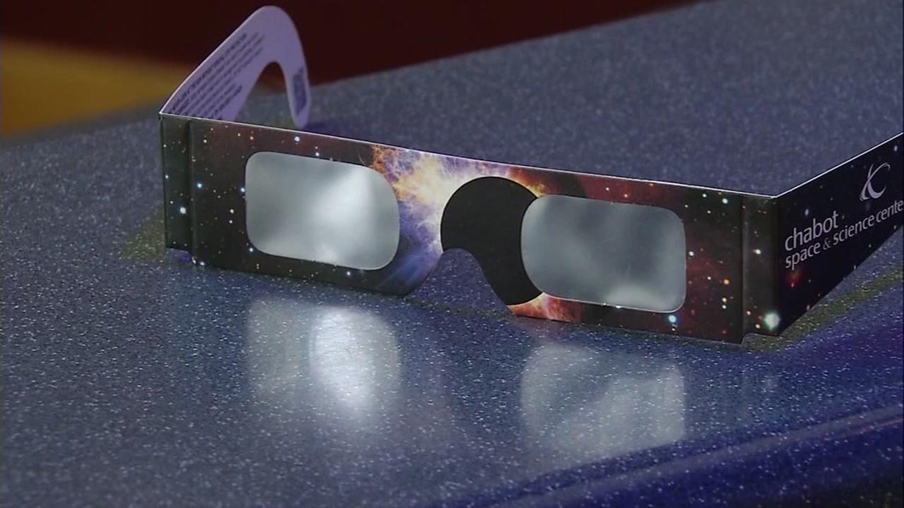 This is an undated image of eclipse viewing glasses.