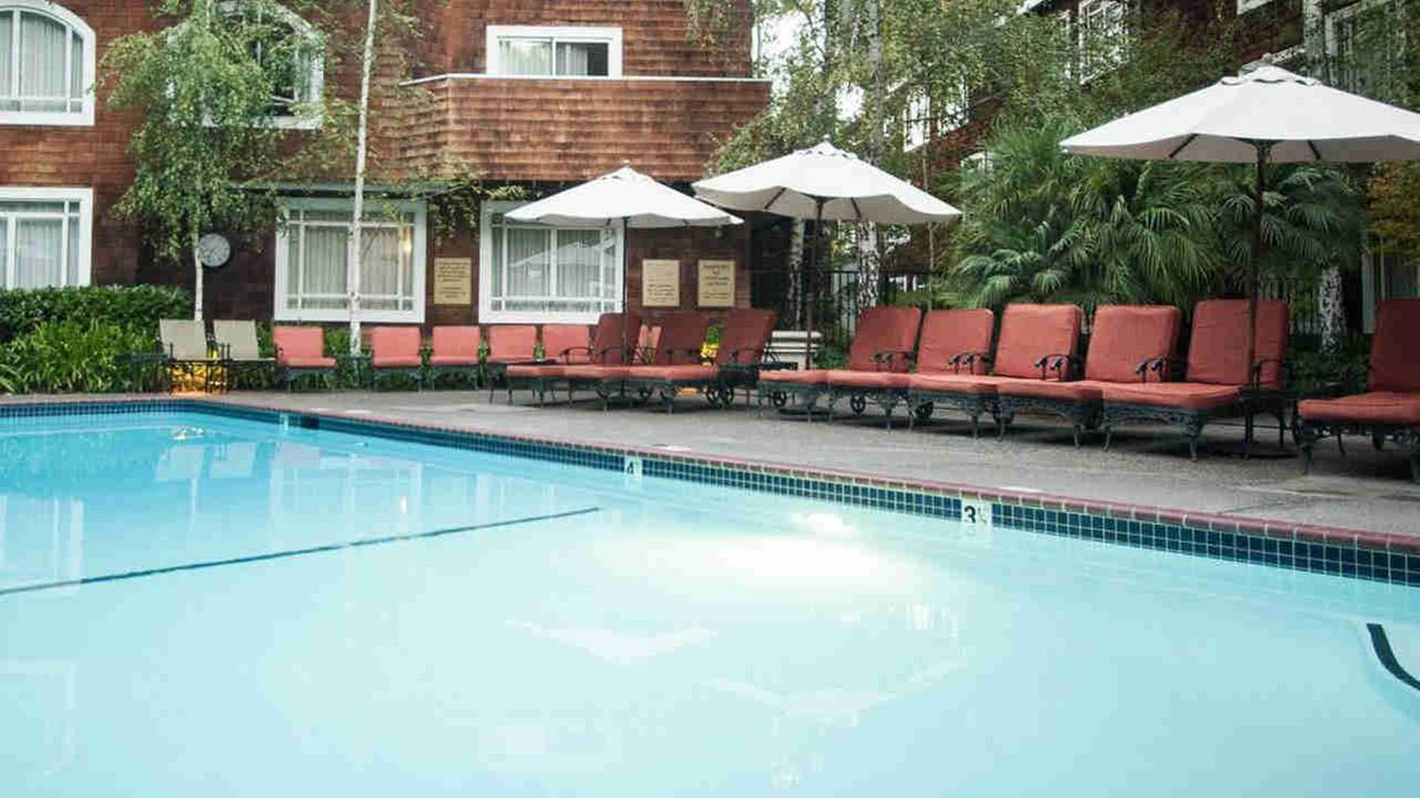 The pool at the Stanford Park Hotel in Menlo Park, Calif. is seen in this undated image.