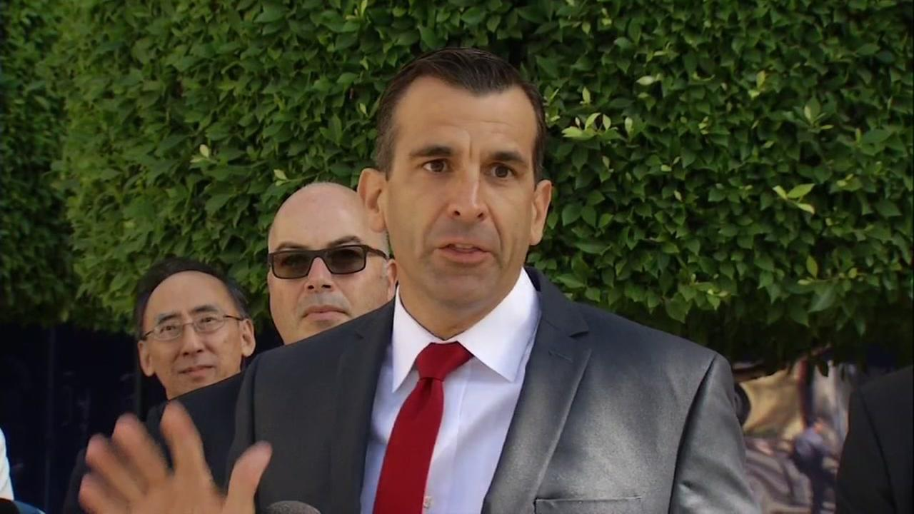 San Jose  Mayor Sam Liccardo is seen speaking on Thursday, September 14, 2017.