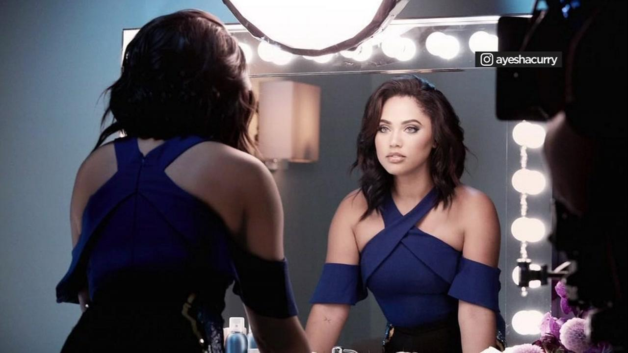 Food Network star Ayesha Curry is seen looking into a mirror in this undated image.
