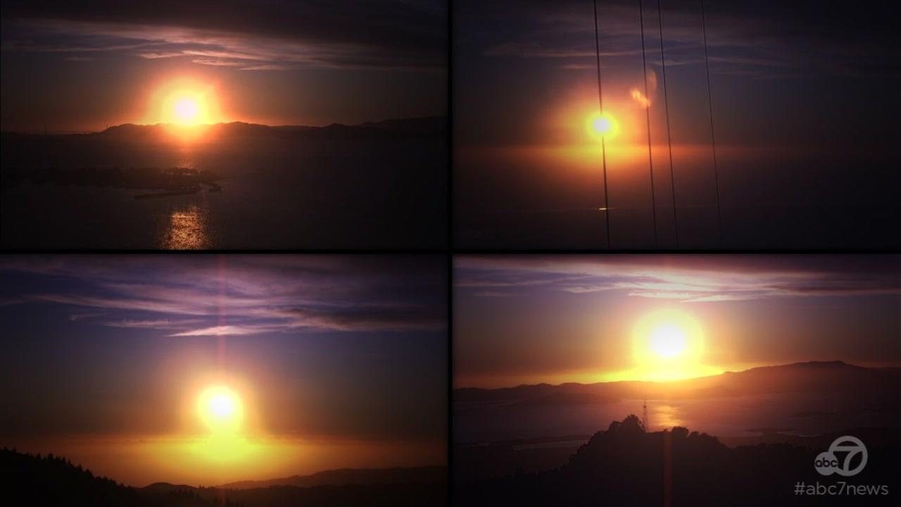 The sun sets over the Bay Area on Thursday, Sept. 21, 2017.