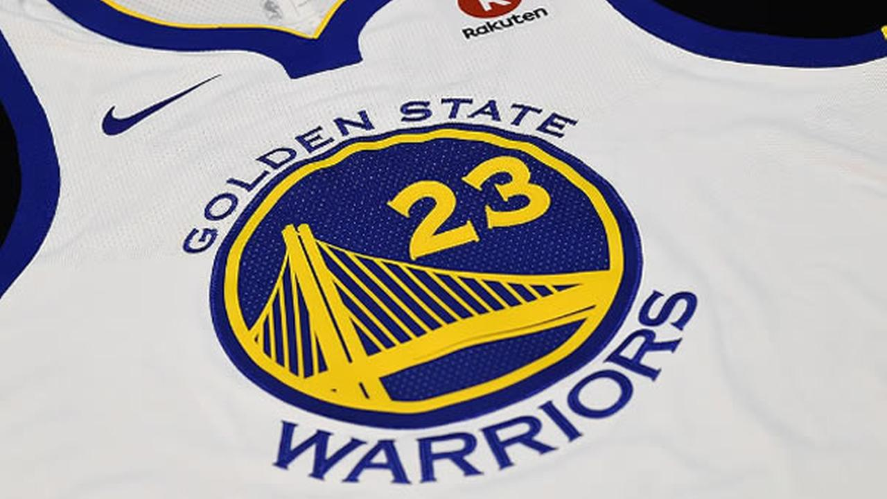 A Golden State Warriors connected jersey is seen in this undated image.
