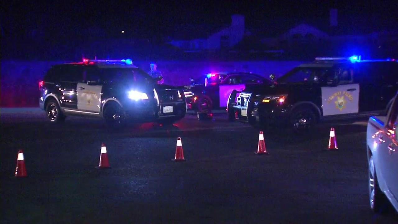 California Highway Patrol vehicles are seen after a fatal pedestrian accident in Half Moon Bay on Saturday, September 30, 2017.