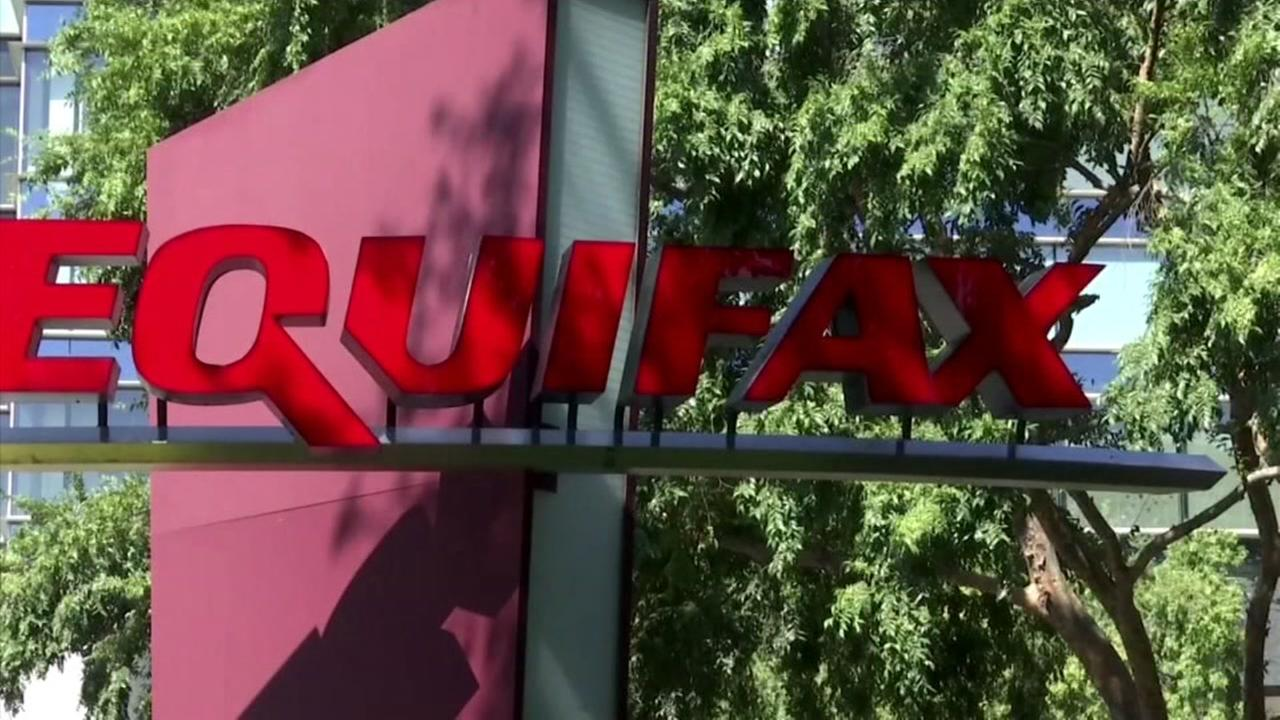 This is an undated image of a sign outside Equifax.