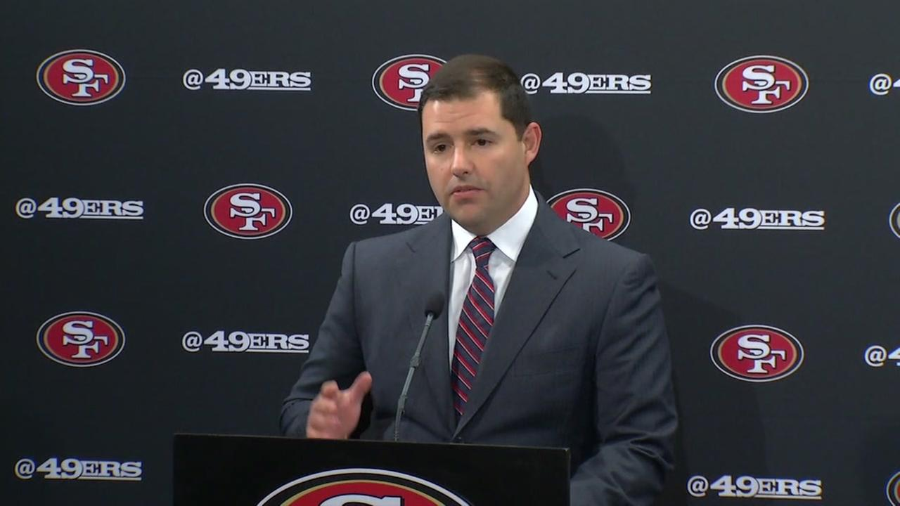 San Francisco 49ers CEO Jed York signed a pledge with police to call for a ban on bump stocks on Thursday, October 26, 2017 in Santa Clara, California.