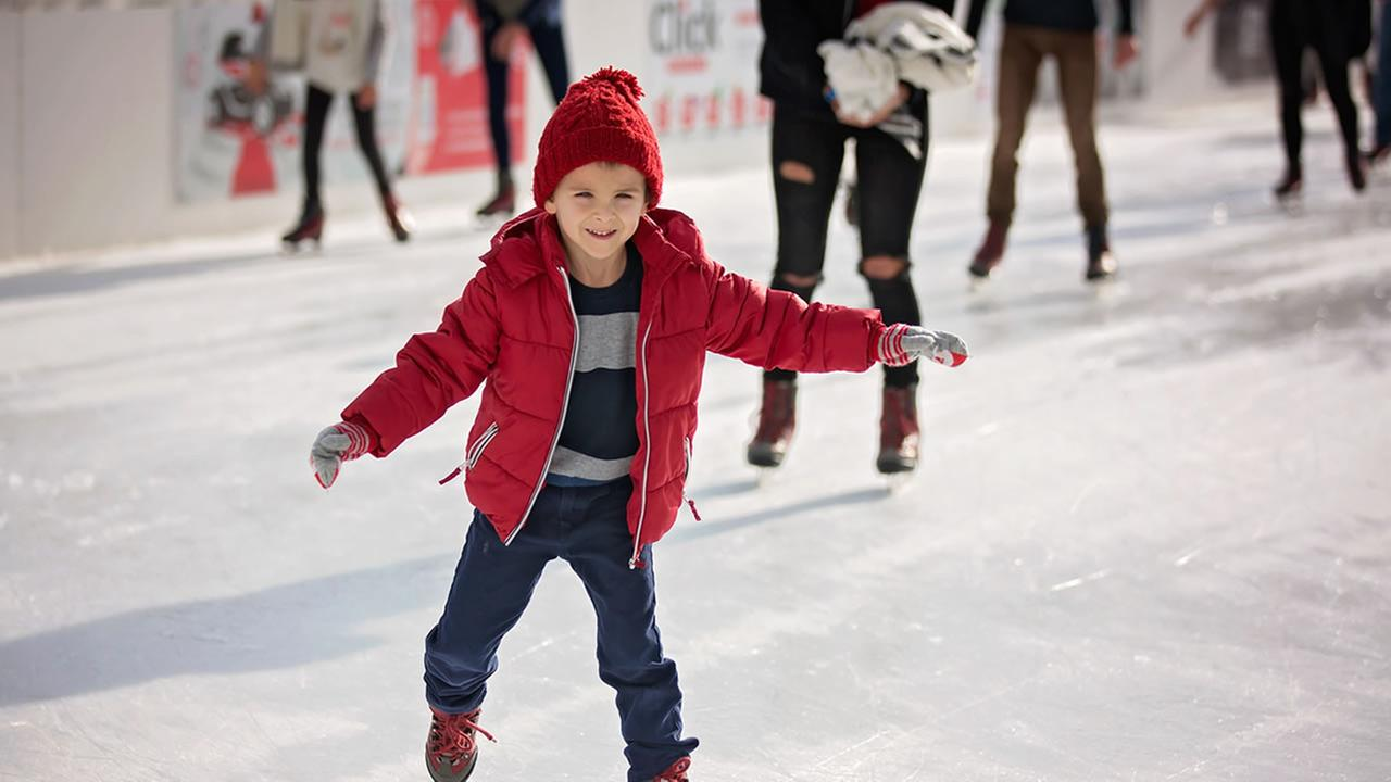 A young boy ice skates in this undated file photo.