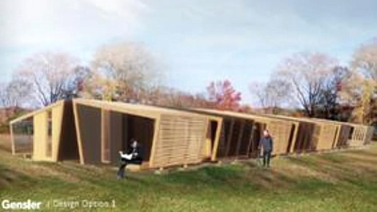 A rendering of a housing development is seen in this undated image.