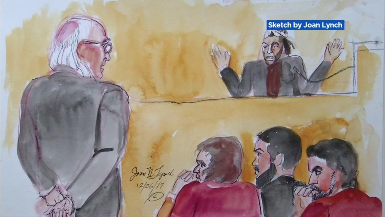 A sketch showing a witness who lived in Oaklands Ghost Ship warehouse is seen during a preliminary hearing on Wednesday, December 6, 2017.