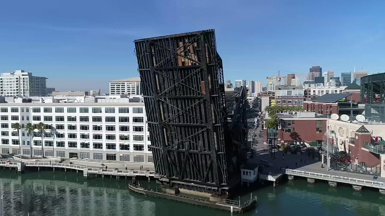 Lefty ODoul Bridge is seen suspended on Monday, Dec. 11, 2017.