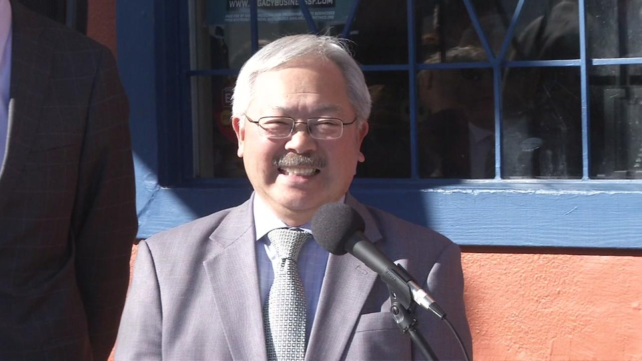 Ed Lee smiles during a press conference in this undated image.