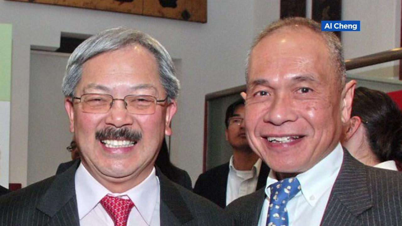 San Francisco Mayor Ed Lee and friend Joe Tuman appear in this undated image.