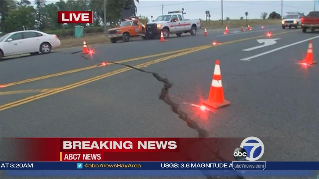 Road near Hwy 121 sustains major damage in quake