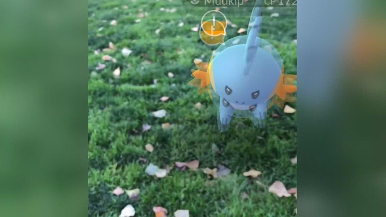 This is an undated image of a Pokemon Go game.