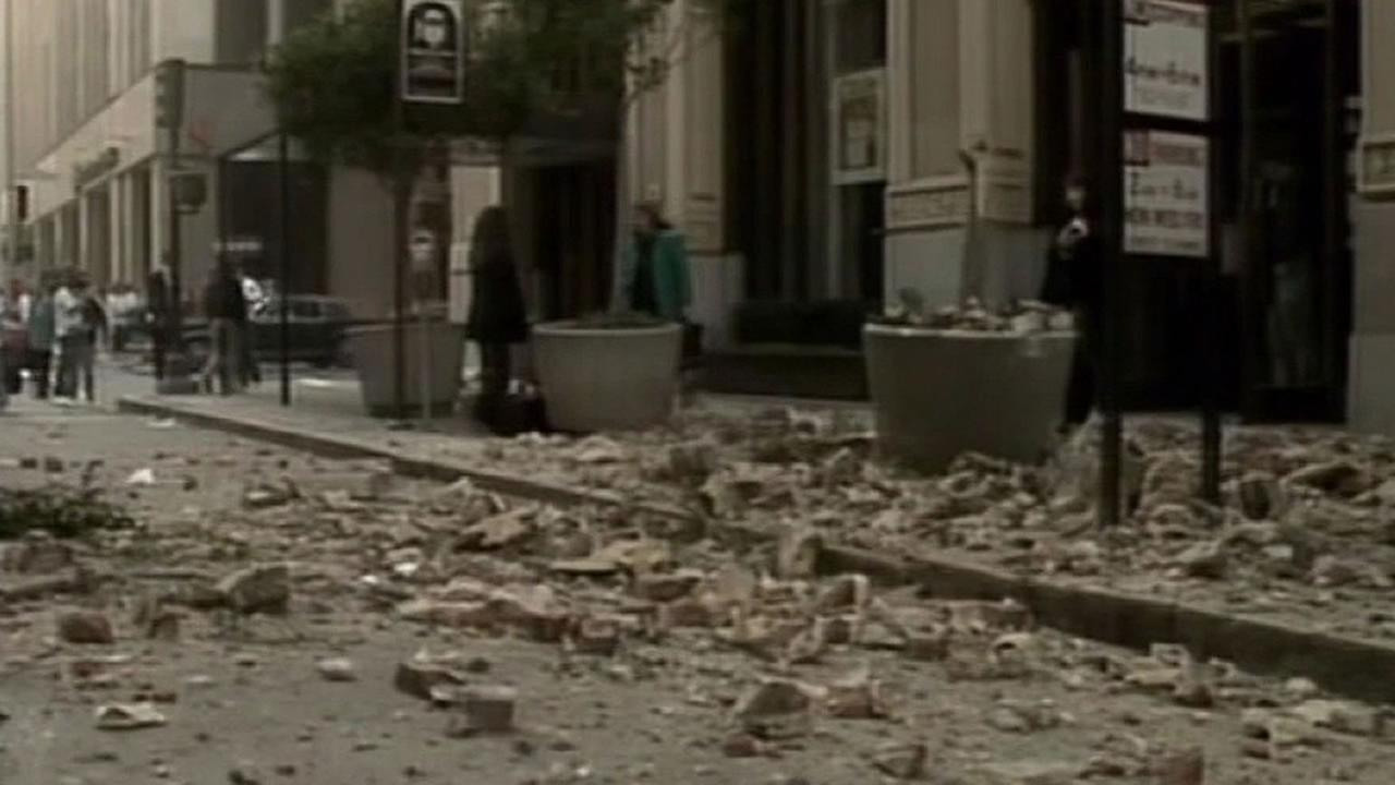 Earthquake debris in San Francisco