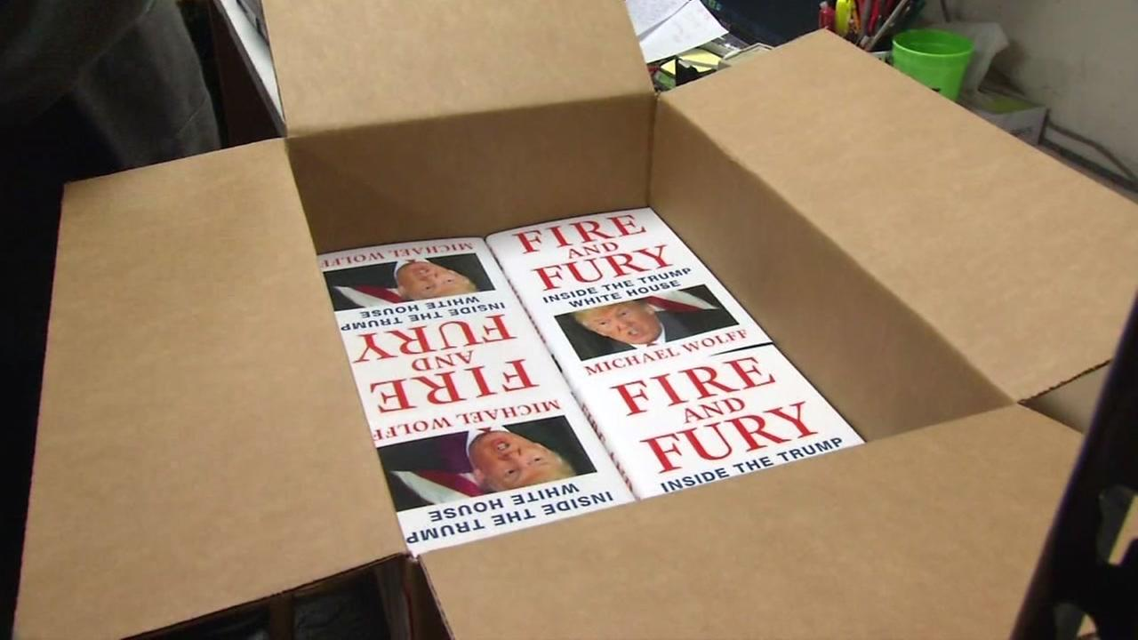 Fire and Fury books appear in a San Francisco bookstore on Friday, Jan 1, 2018.