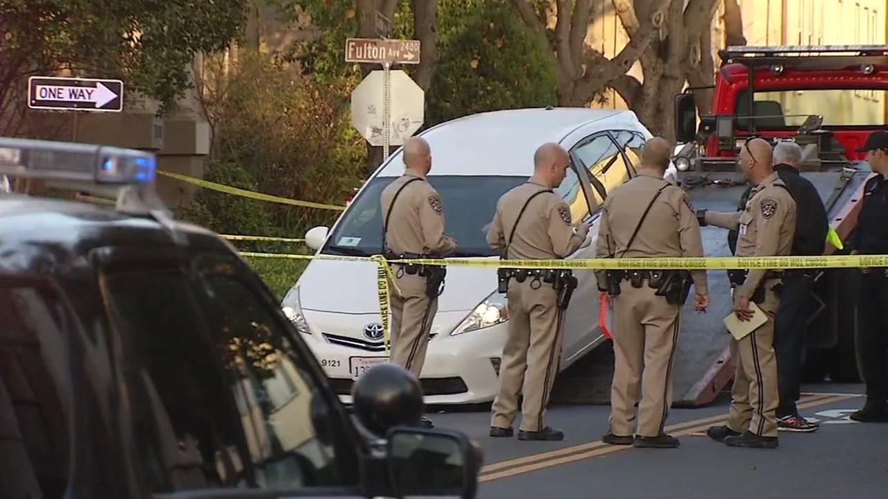 Officials investigate after a fatal accident in Berkeley, Calif. on Friday, Jan. 12, 2017.