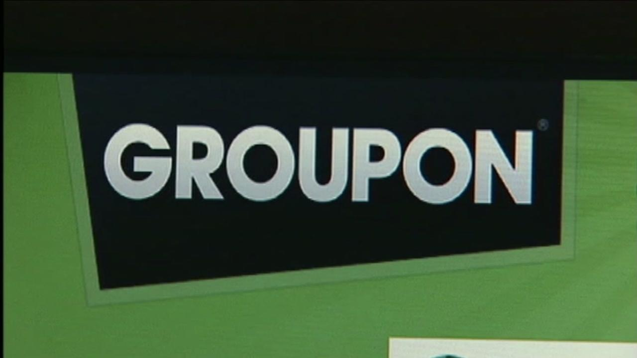 The Groupon website is seen in this undated image.