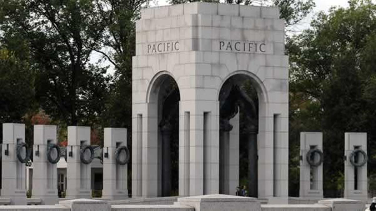 Pacific Pavilion Pillars at the World War II Memorial in Washington, D.C.