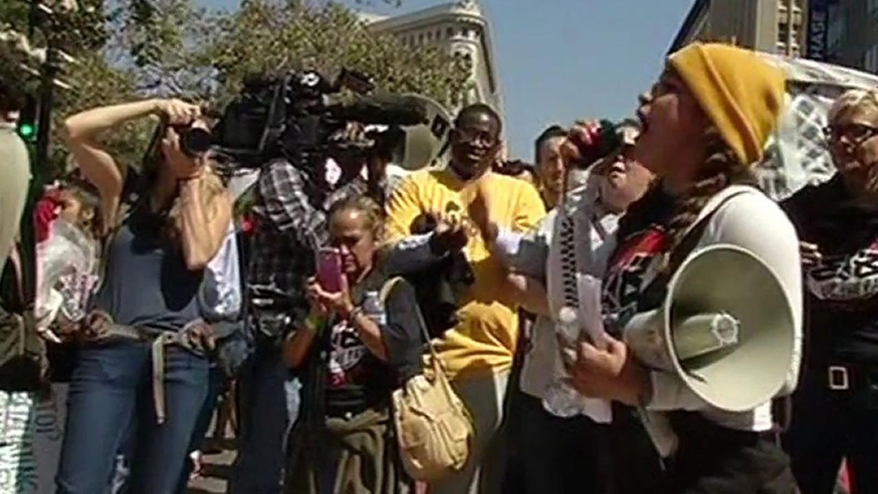 14 people were arrested in Oakland Thursday in a protest over fast food workers wages.