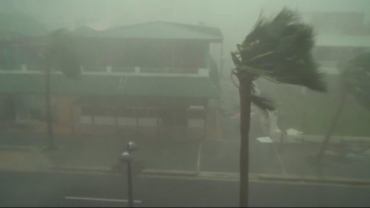 Hurricane winds rip through Puerto Rico in 2017.