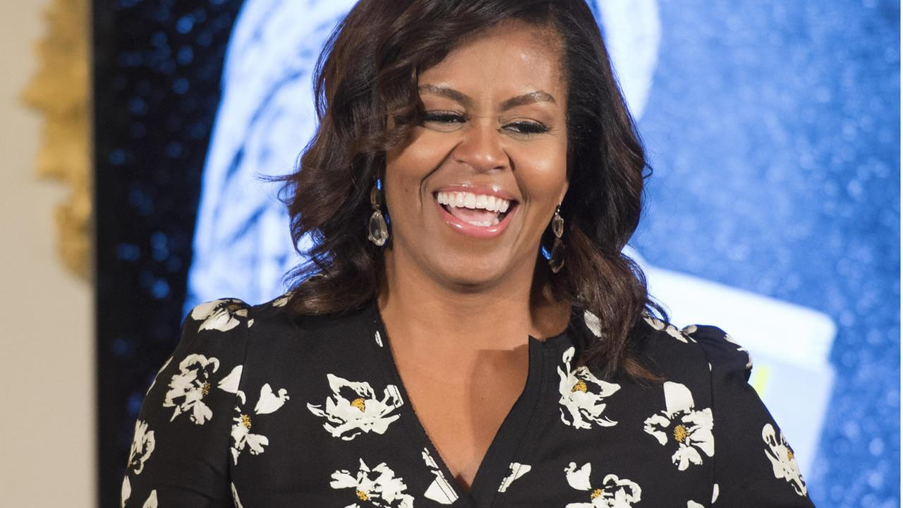 First Lady Michelle Obama speaks while hosting a special screening with the U.S. Department of States Office of Global Womens Issues in Washington, Oct. 11, 2016. (AP Photo)