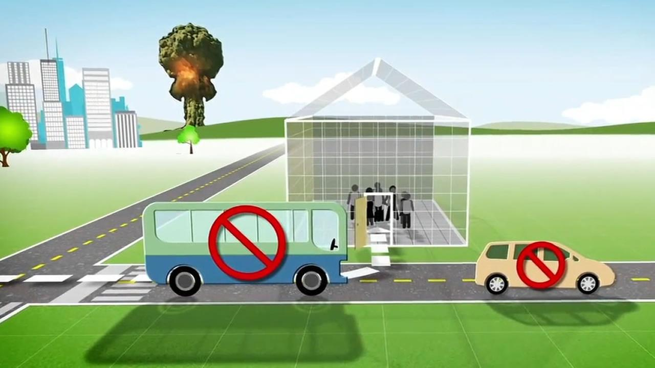 This animated video from the CDC demonstrates what you should do in the event of a nuclear attack.