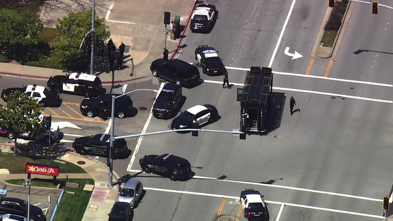 Police are investigating an active shooter situation at the YouTube headquarters in San Bruno, Calif. on Tuesday, April 3, 2018.