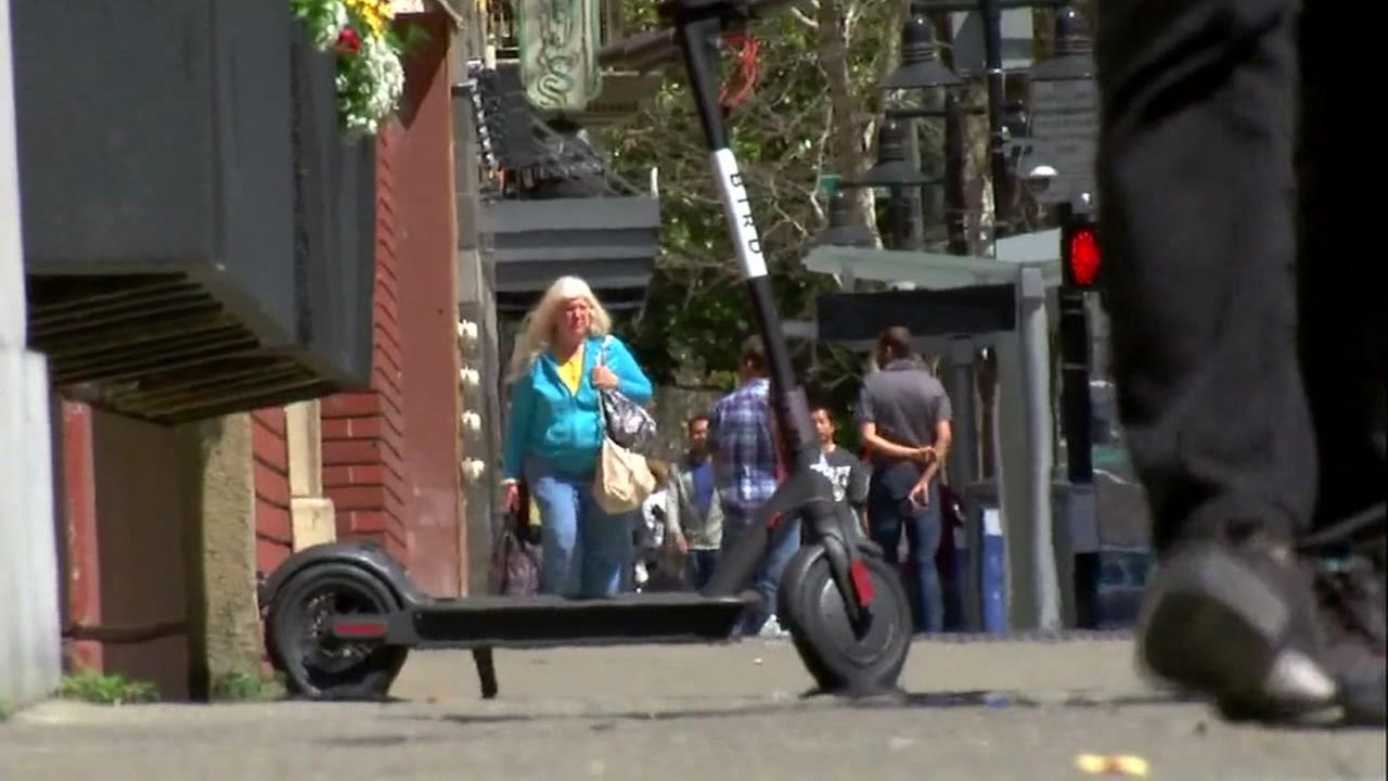A scooter is seen in San Francisco, Calif. in this undated image.