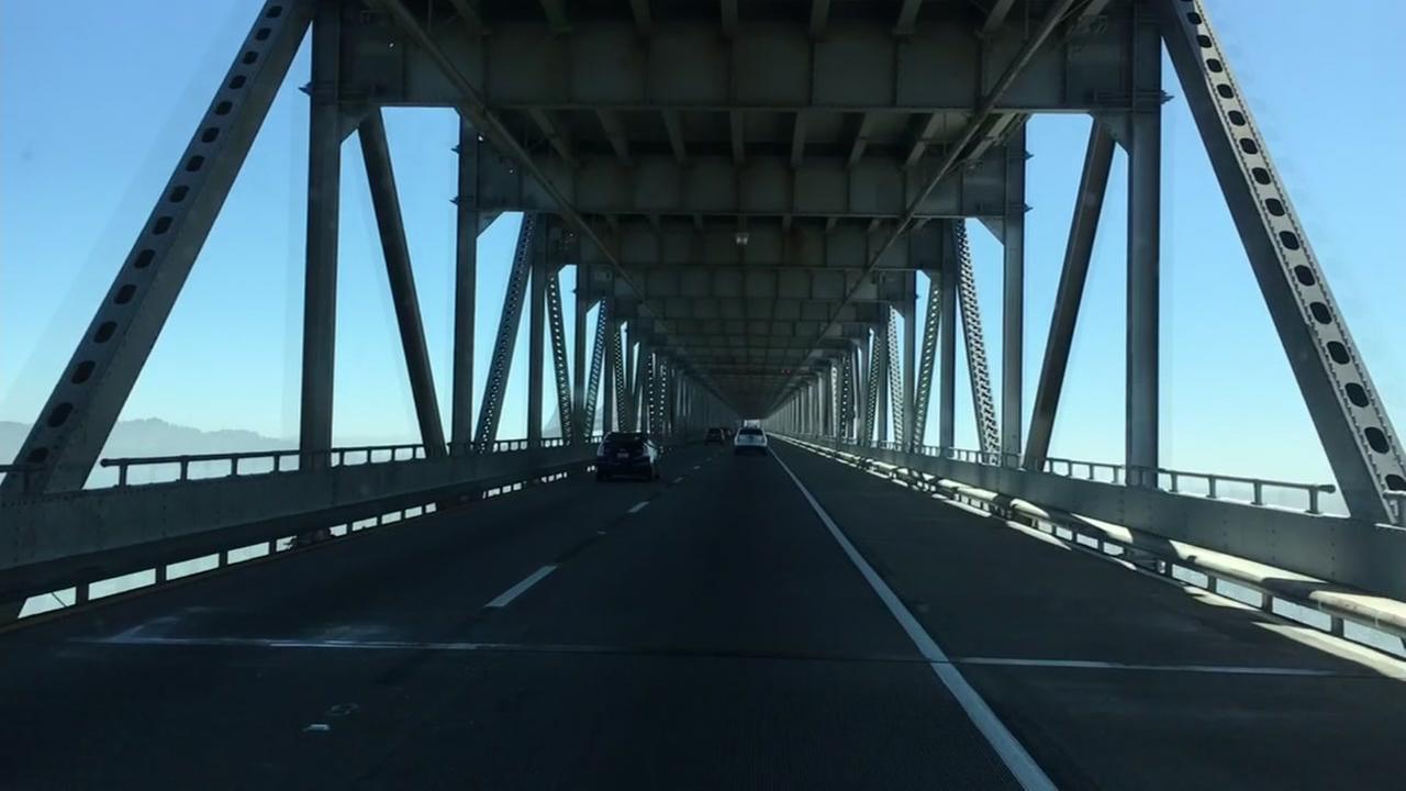 The Richmond-San Rafael Bridge appears on Friday, April 20, 2018.