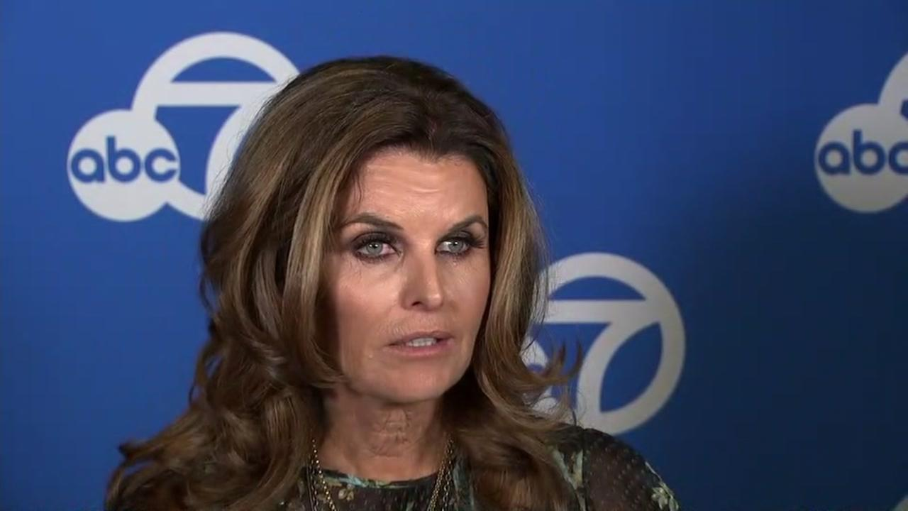 Maria Shriver is interviewed by ABC7 News on Wednesday, April 25, 2018.