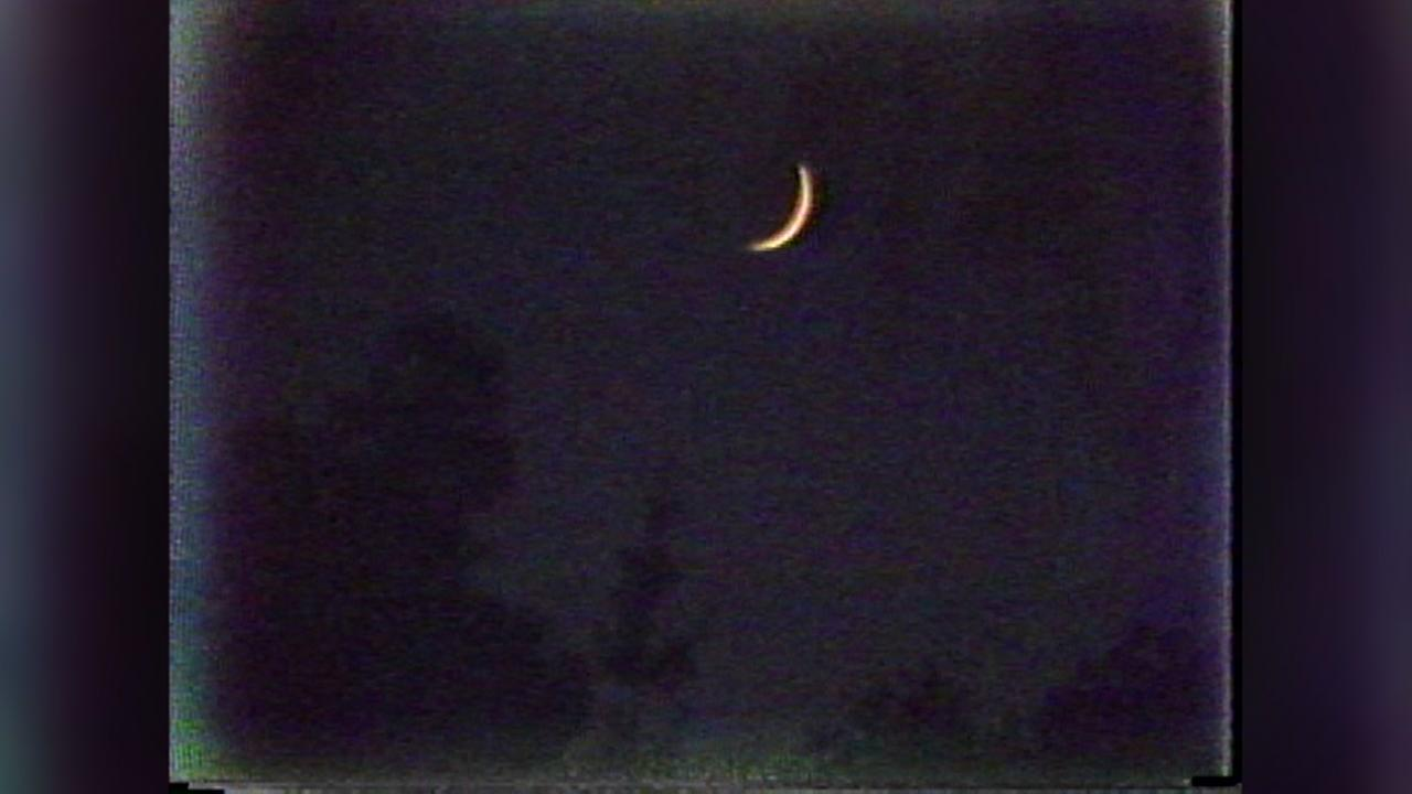 The moon hangs low over Walnut Creek, Calif. as police hunt for the Golden State Killer on June 6, 1979.