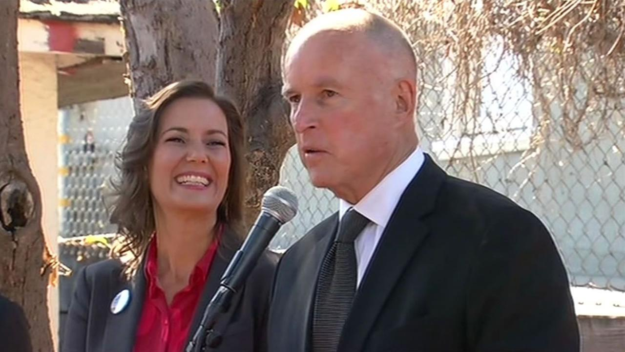 Gov. Jerry Brown and Libby Schaaf