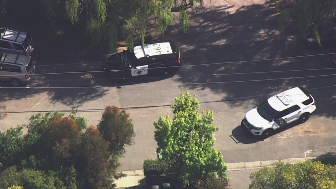 Mill Valley police investigate a shooting in Mill Valley, Calif. on Thursday, May 3, 2018.