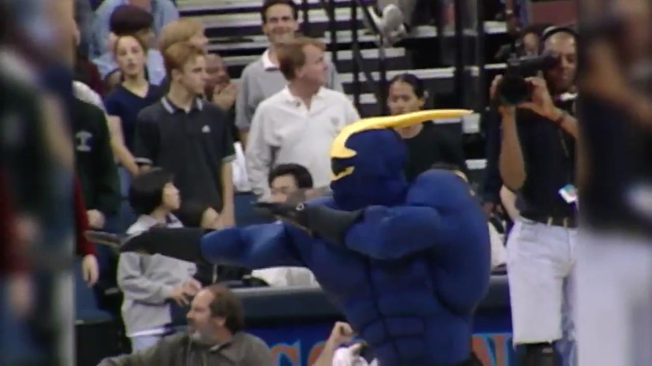 This is an undated image of Thunder, the Golden State Warriors former mascot.