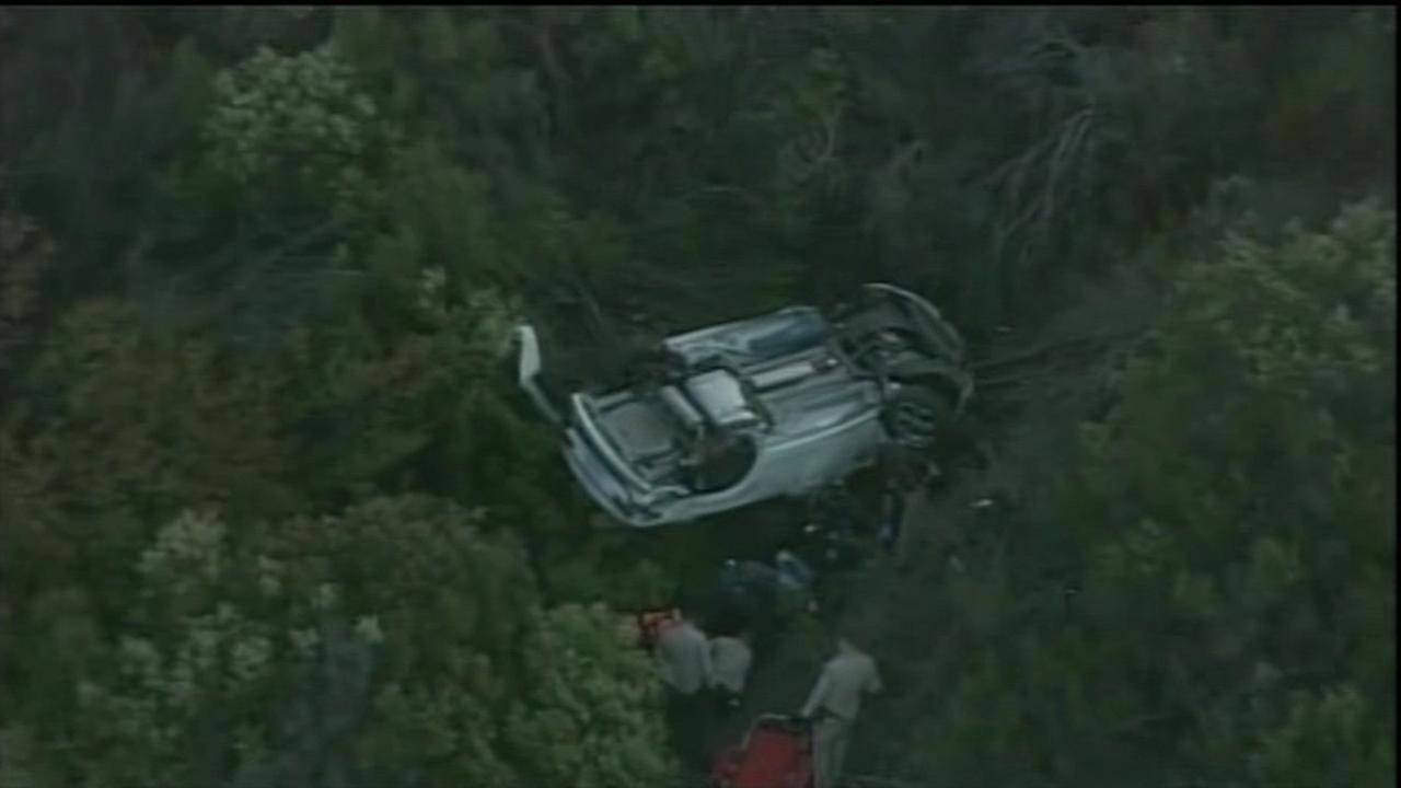 Rescue crews extricated a woman who had been stuck in her car since Monday, using an iPhone to track down her location.