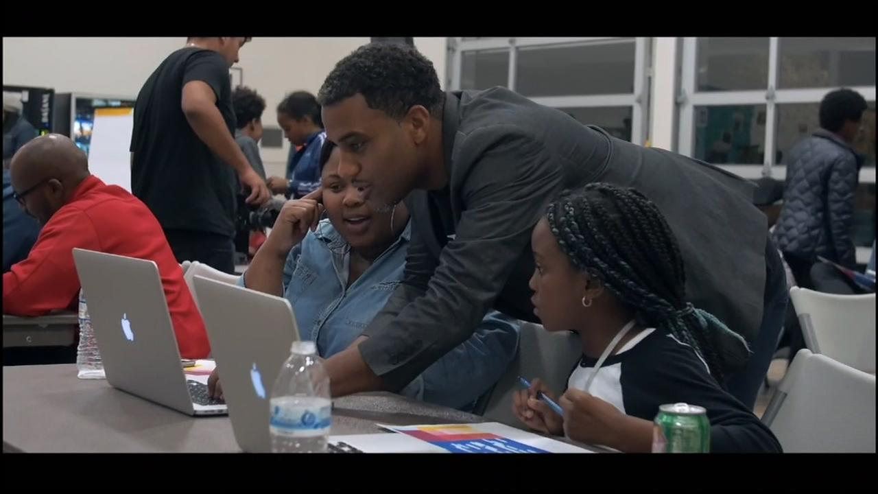Members of the Streetcode Academy work in East Palo Alto, Calif. in this undated image.