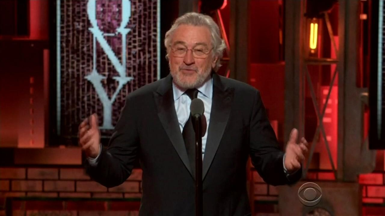 Robert De Niro appears at the 2018 Tony Awards on Sunday, June 10, 2018.