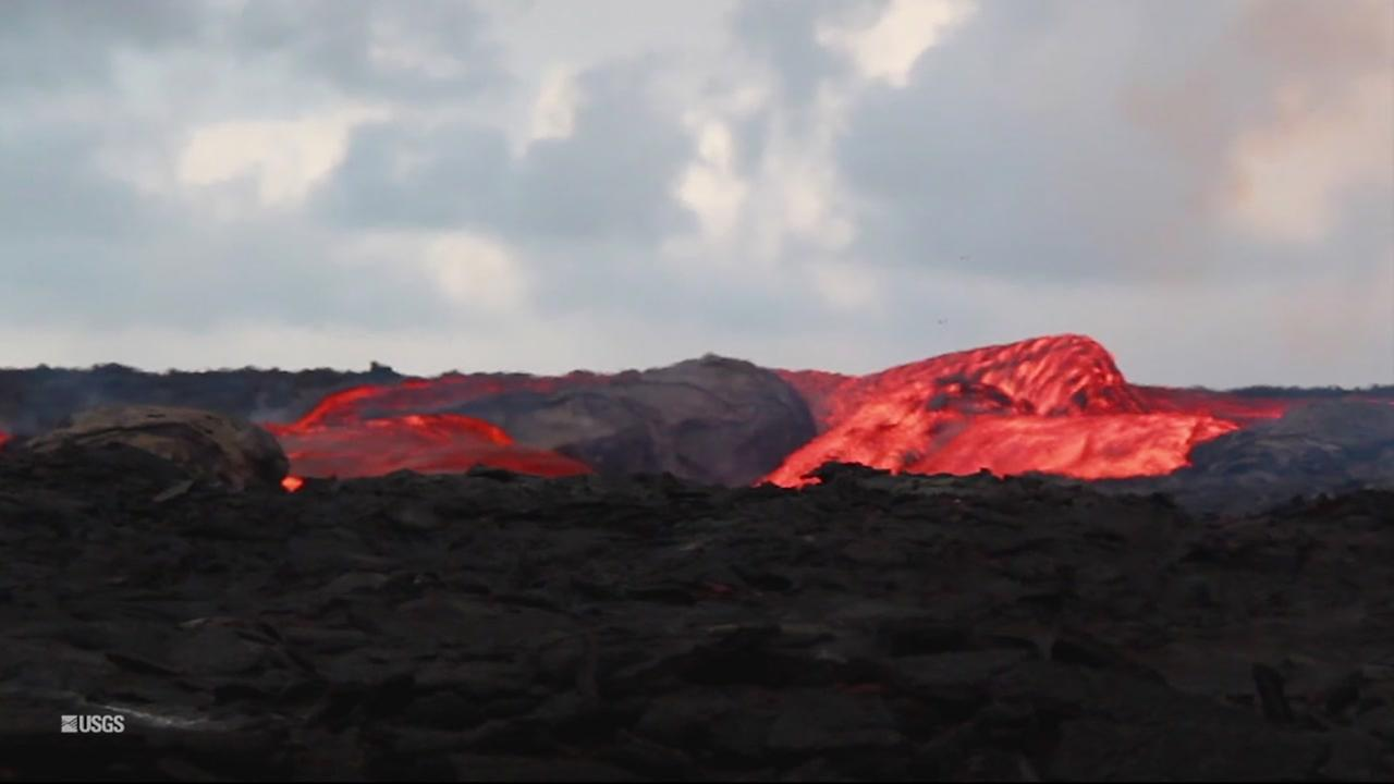 Lava from the Kilauea volcano in Hawaii is seen in this undated image.