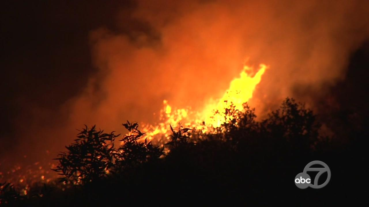 Fire burns in Lake County, Calif. on Sunday, June 24, 2018.