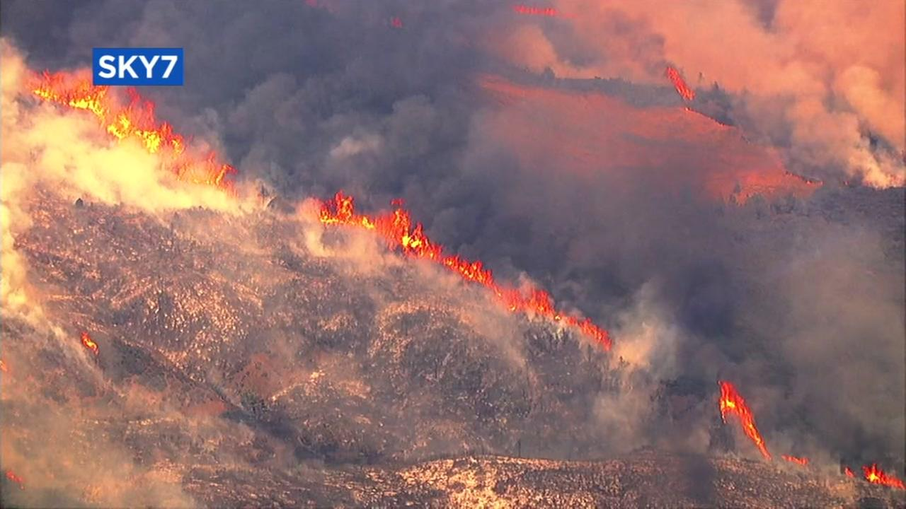 A fire in Lake County burns over 7,700 acres.