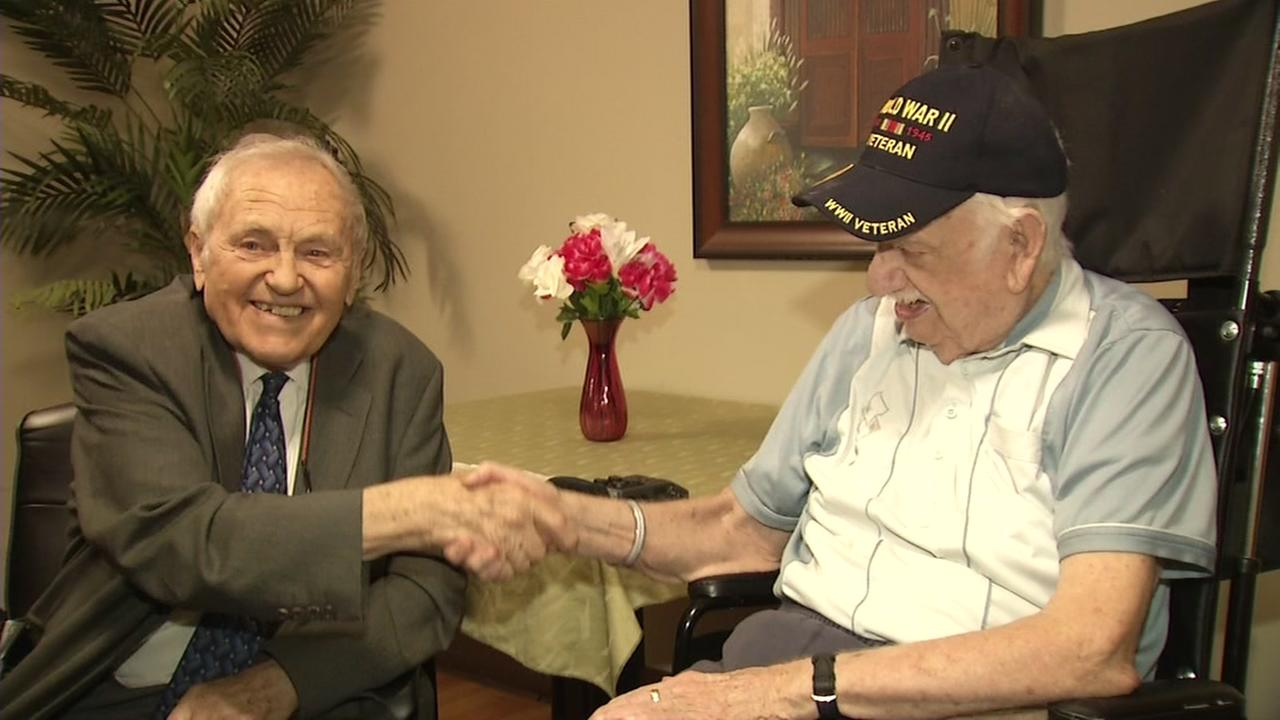 Nick Hope officially meets Henry Stuehmeyer for the first time since he was liberated from a Nazi concentration camp in 1945.