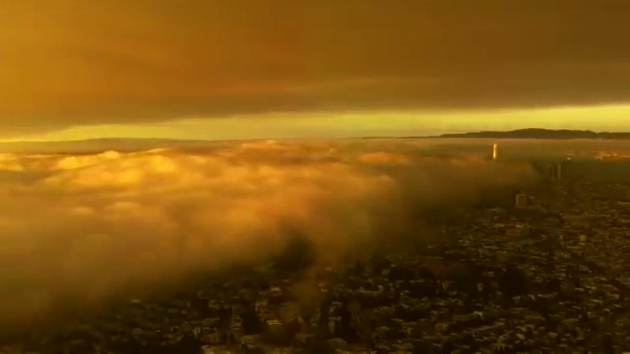 VIDEO: Smoke rolls over SF at sunset