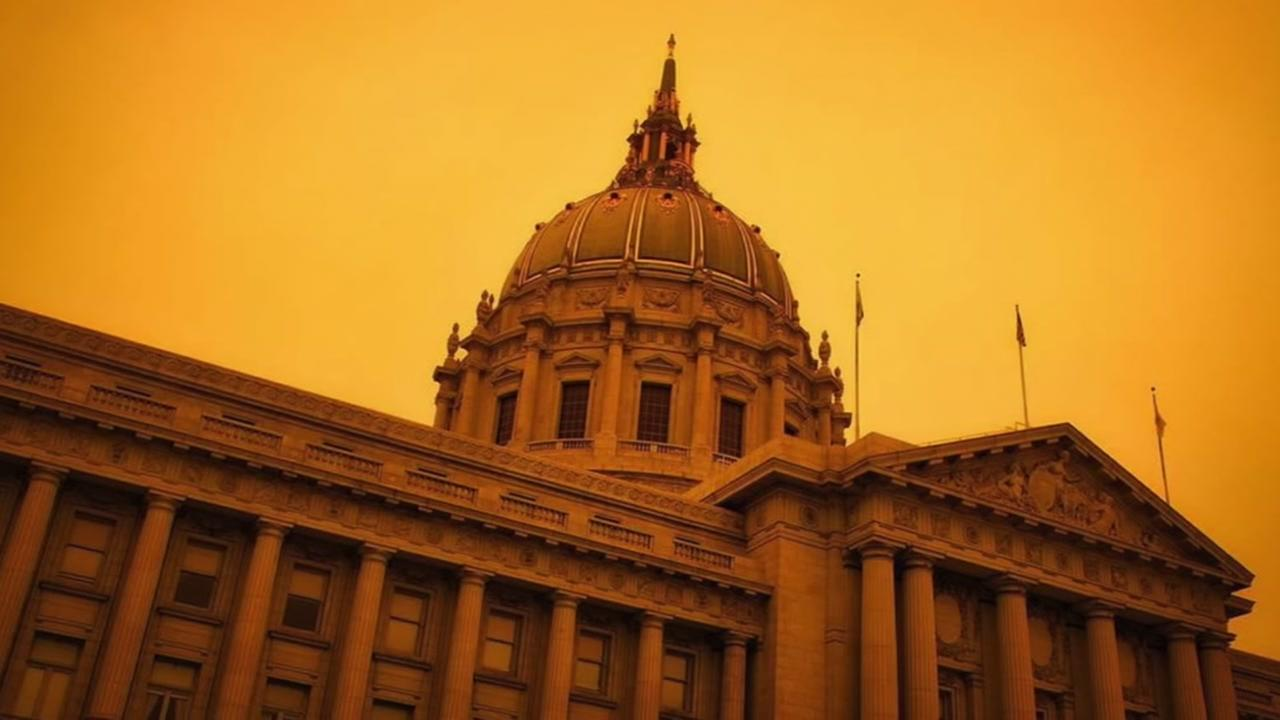 PHOTOS: Bay Area sky turns eerie orange from County Fire smoke