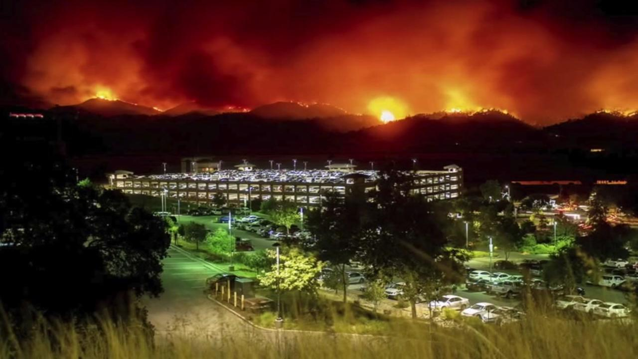 PHOTOS: County Fire burning near Lake Berryessa