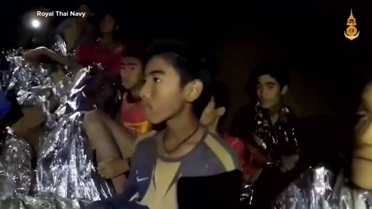 Twelve boys and their soccer coach have been trapped in a flooded cave in Thailand.