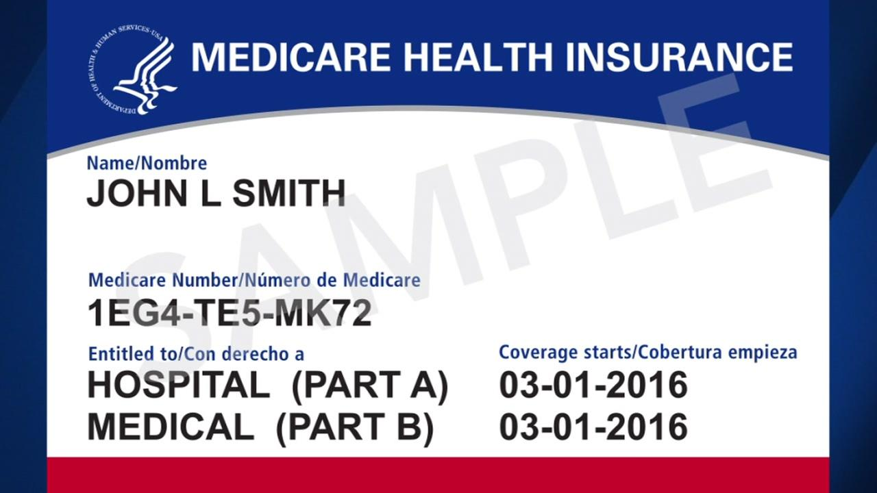 A sample of the new Medicare card appears.