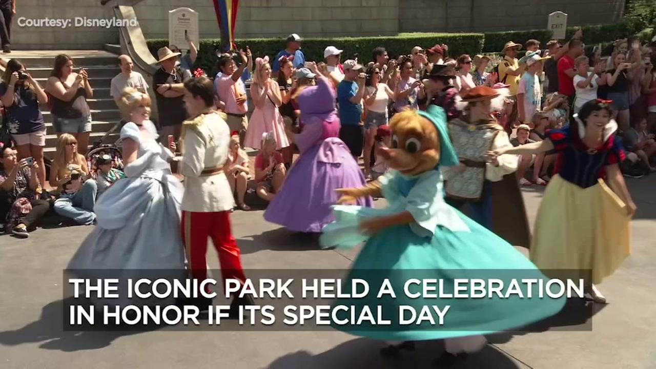 VIDEO: Disneyland celebrates 63rd birthday