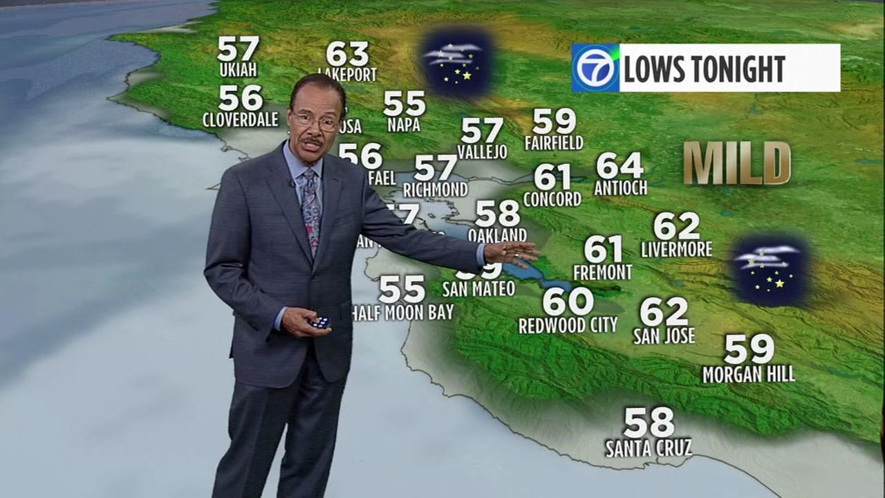AccuWeather Forecast: Areas of fog near coast, mostly clear inland