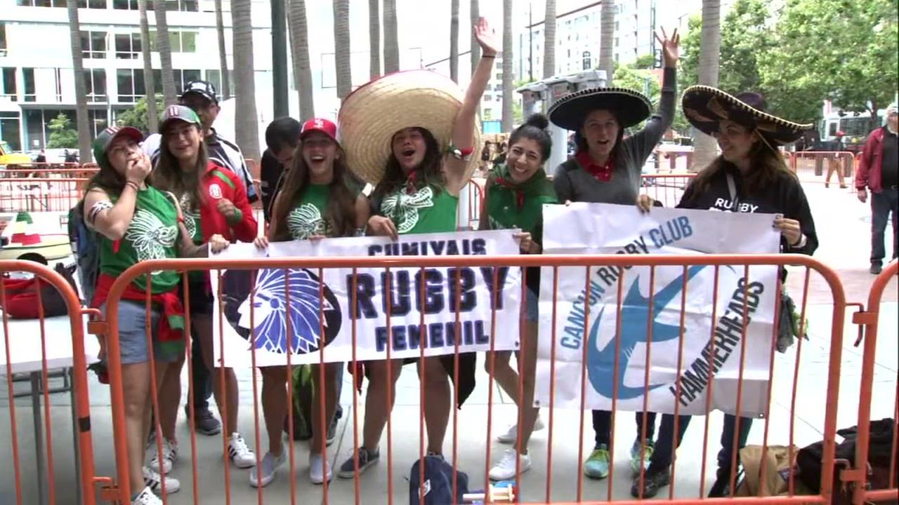 Fans at Rugby World Cup Sevens tournament in San Francisco on Friday, July 20, 2018.