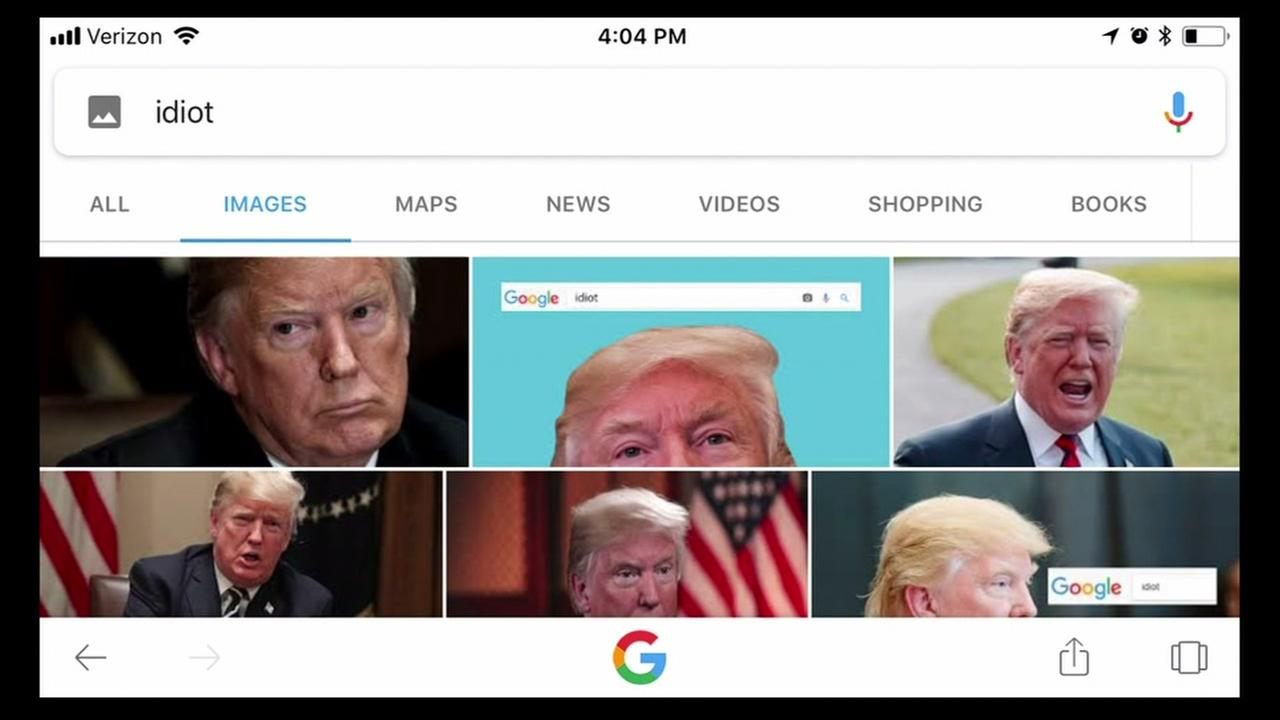 If you google image search idiot right now, youll find tons of images of President Donald Trump